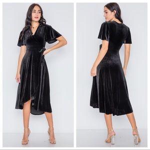 Velvet Black Dress, Must have 🌹